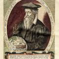 Gerhard Mercator, Kupferstich von Frans Hogenberg 1574